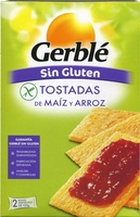 "Tostadas ""Gerblé"" Arroz y maíz. Sin gluten - Producto"