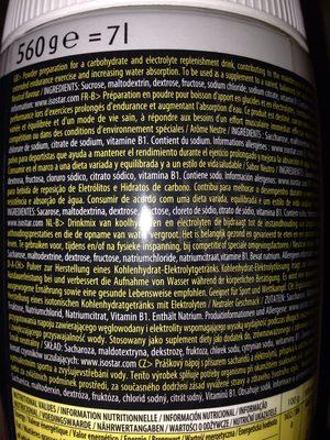 Isostar sport drink neutral - Ingrédients - fr