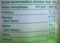 Petit cuisiné Lentilles Riz & Soja Bio - Informations nutritionnelles - fr