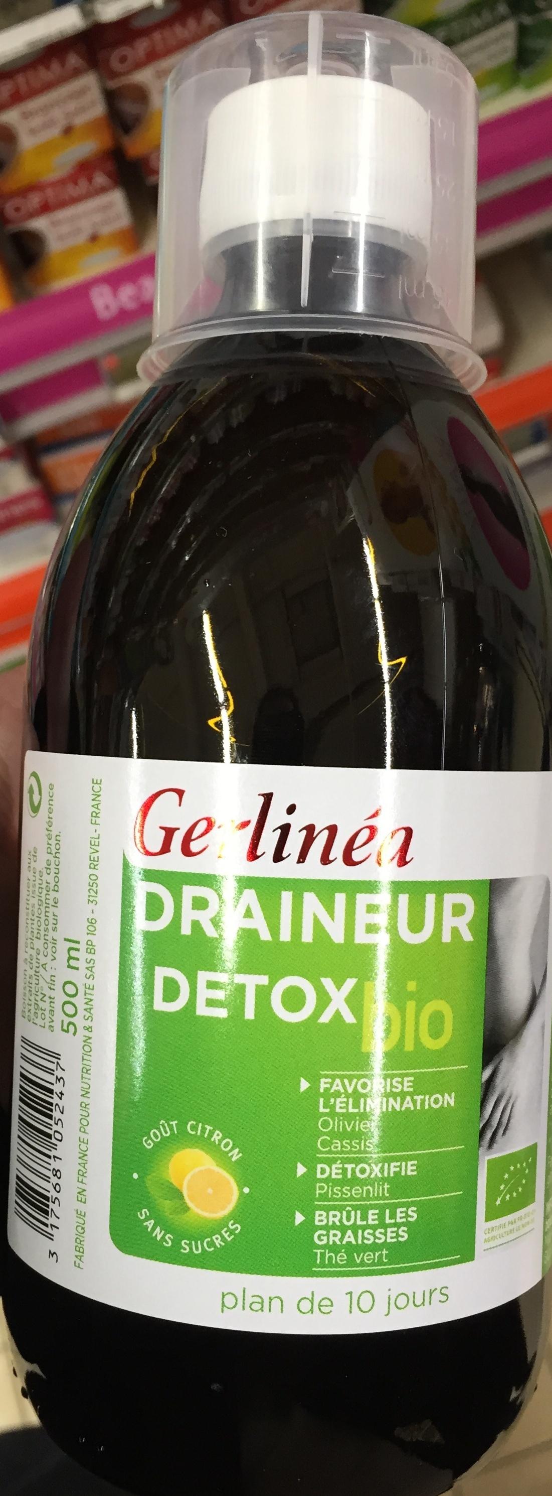 Draineur Detox Bio goût Citron sans sucres - Gerlinéa - 500 ml