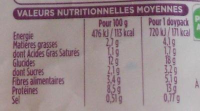 Plat Express : Pâtes à la napolitaine - Informations nutritionnelles - fr