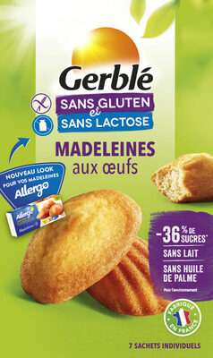 Madeleines aux oeufs Gerblé - Product - fr