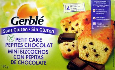 Petit cake pépites chocolat sans gluten - Product