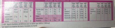 Barres Milical Noix de Coco - Voedingswaarden - fr