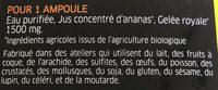 Gelee royale 1500mg - Ingredients - fr