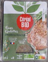 Fines galettes Epinards et pignons - Produit - fr