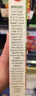 Fines galettes Epinards et pignons - Ingrédients