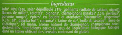 Croq'Soja Champignons shitakés & gingembre - Ingrédients - fr