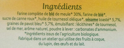Sablés sésame & pavot - Ingredients