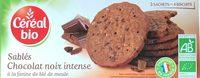 Sablés bio chocolat noir intense - Produit - fr