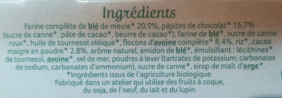Sablés bio chocolat noir intense - Ingredients