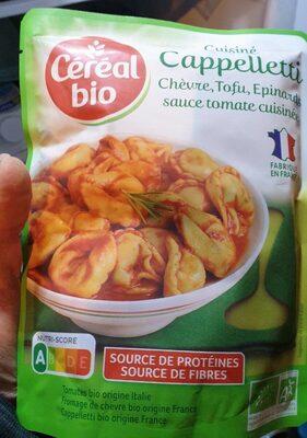 Cappelletti chèvre, tofu, épinards, sauce tomate cuisinée - Product - fr