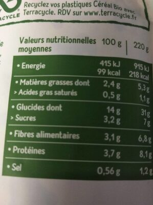 Cuisiné cappelletti - Voedingswaarden - fr