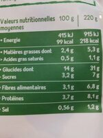 Cappelletti chèvre tofu épinards - Voedingswaarden - fr