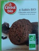 4 Sablés Bio Chocolat Noir Intense à la Farine de Blé de Meule - Product - fr