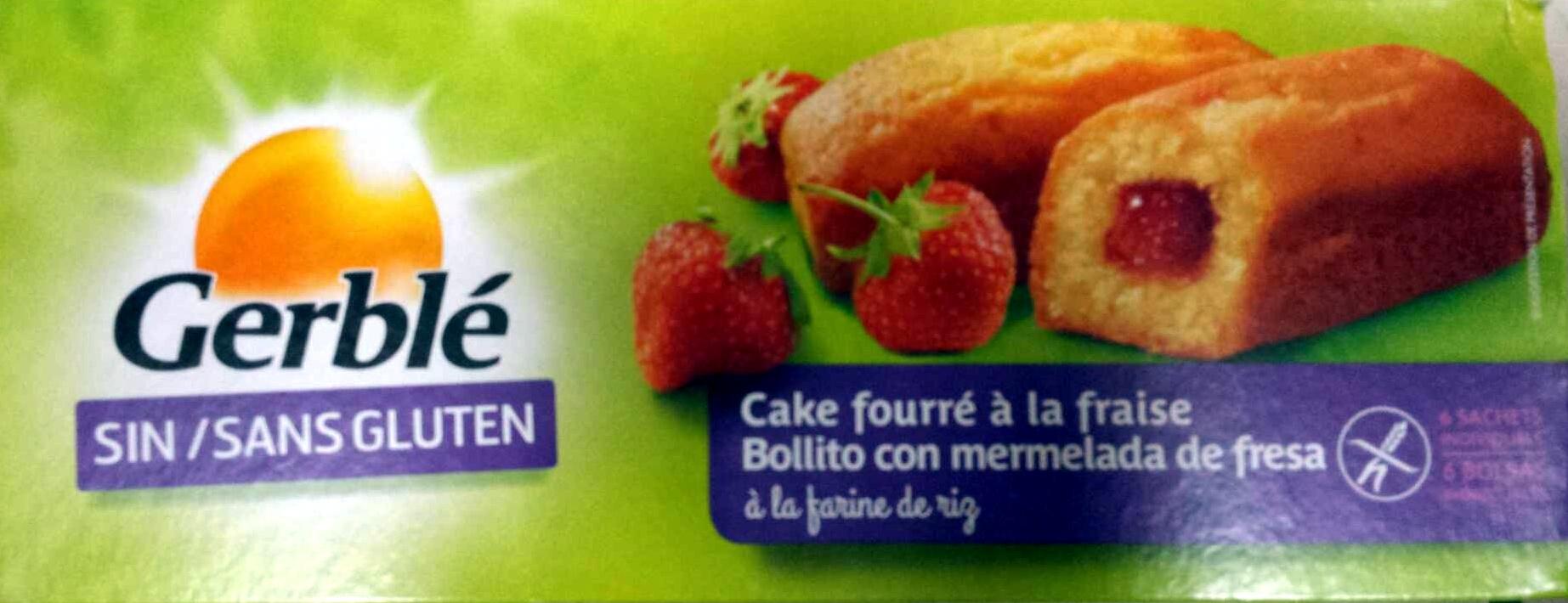 Cake fourré à la fraise - Produit - fr
