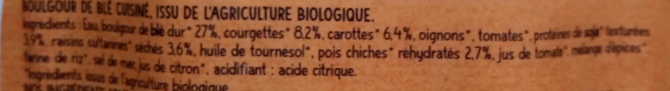 Boulghour de blé à la Tunisienne au Raz-El-Hanout - Ingredienti - fr