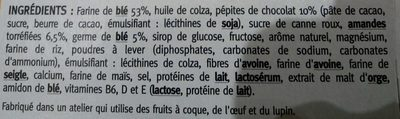 Biscuit chocolat amande - Ingredients