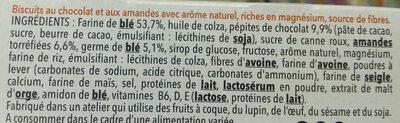 Biscuit chocolat amande - Ingredients - fr