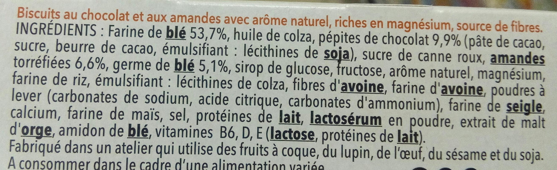 Biscuit chocolat saveur amande - Ingredients - fr