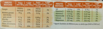 Biscuit chocolat saveur amande - Nutrition facts - fr