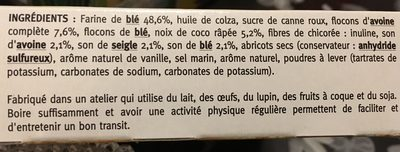 Croustillant avoine coco aux 3 sons - Ingrédients - fr