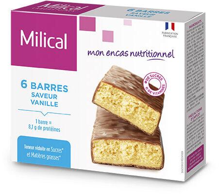 Milical - Barres HP vanille - étui 6 barres - Product