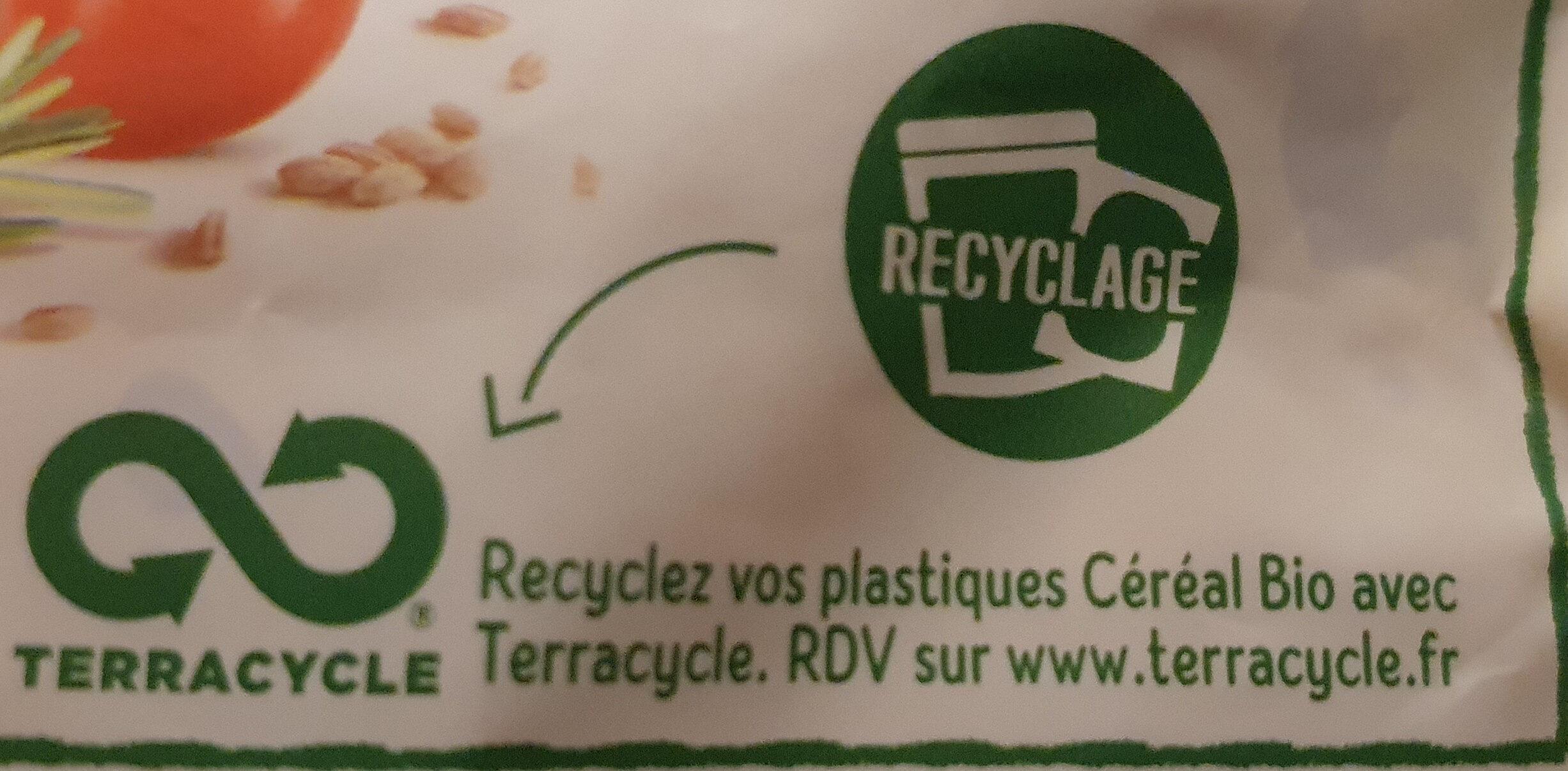 Cuisiné aubergines, orge et soja - Recyclinginstructies en / of verpakkingsinformatie - fr