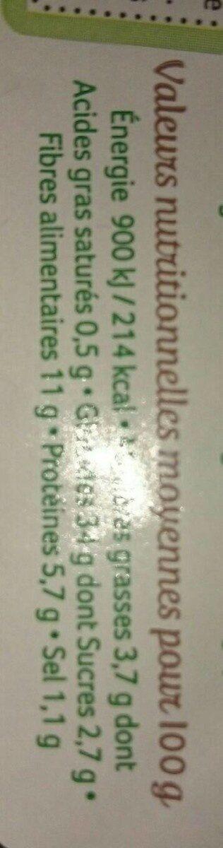 Pain complet de seigle aux graines de tournesol - Informations nutritionnelles - fr