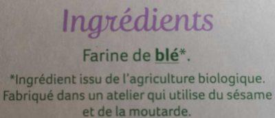 Pain Azyme au Froment - Ingrédients