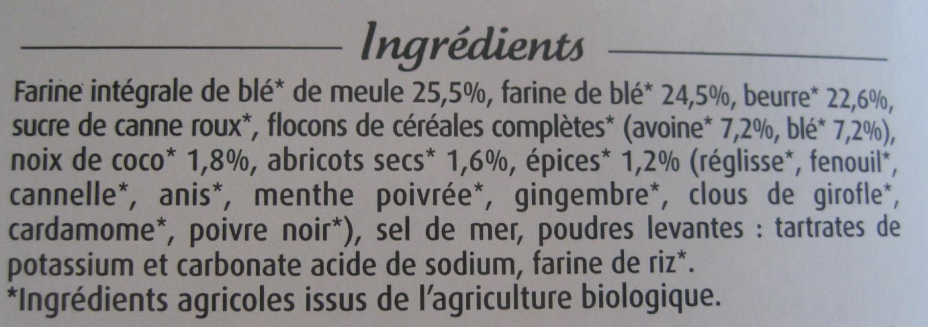 Sablés bio au beurre - Muesli & Épices - Ingredienti - fr