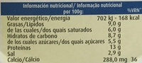 Sbelium Queso Fundido Light - Informations nutritionnelles