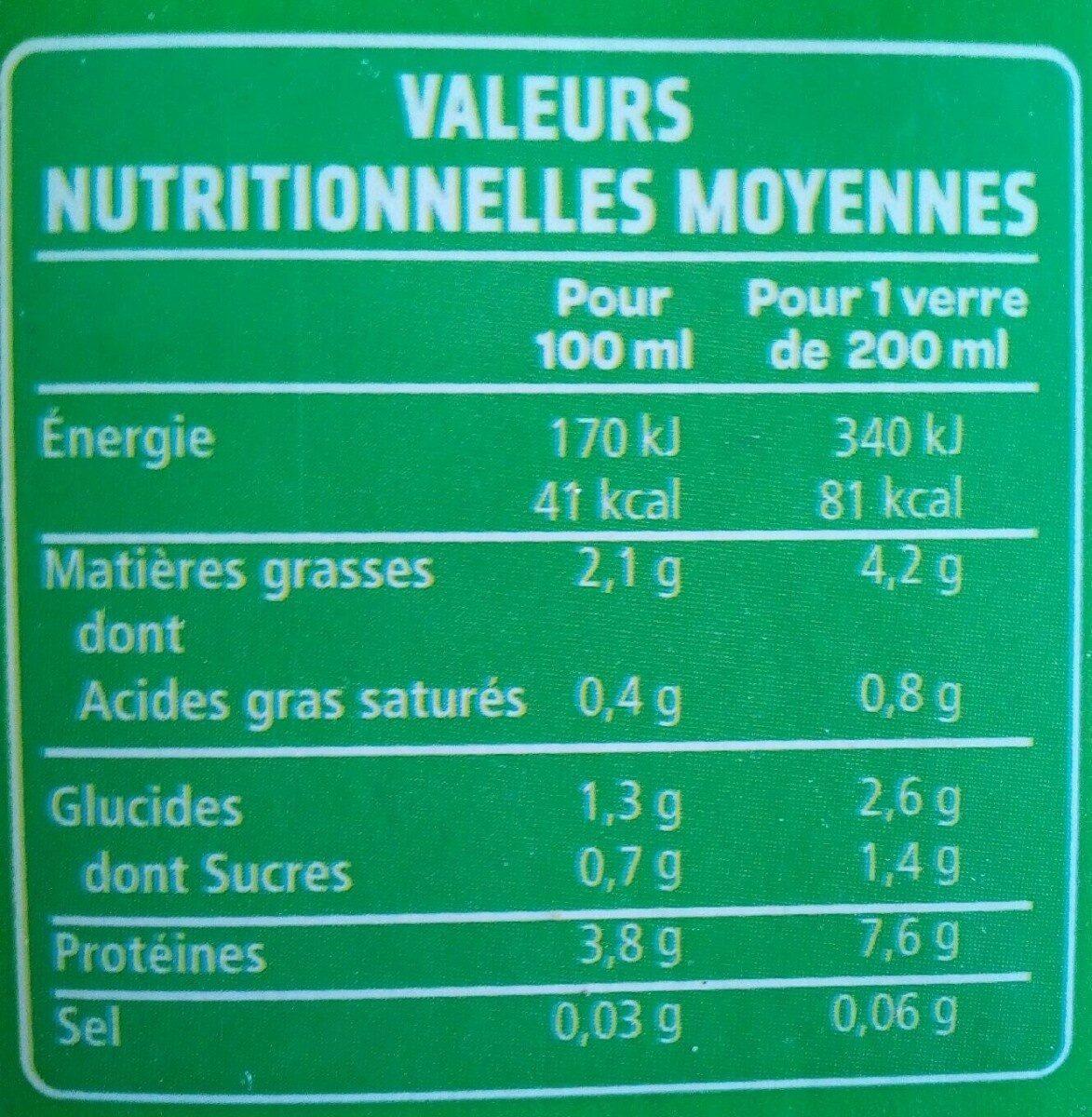 Boisson soja du sud ouest nature - Valori nutrizionali - fr