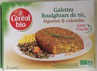 Boulghour de riz, légumes et colombo - Produit