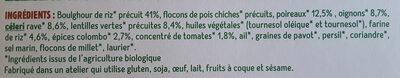 Boulghour de riz, légumes et colombo - Ingrédients - fr