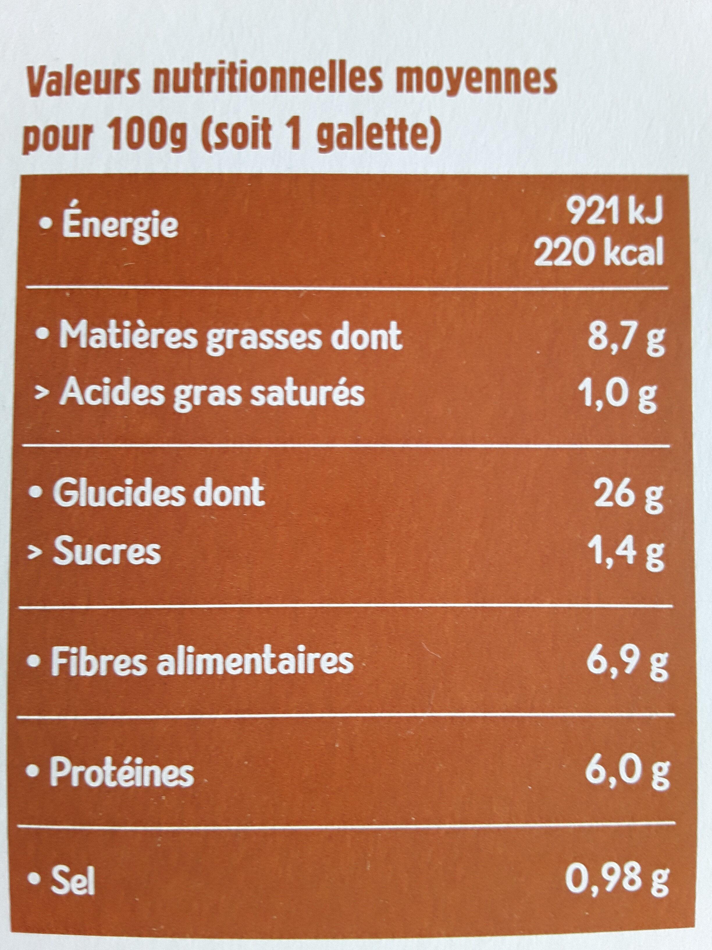 Boulghour de riz, légumes et colombo - Informations nutritionnelles - fr
