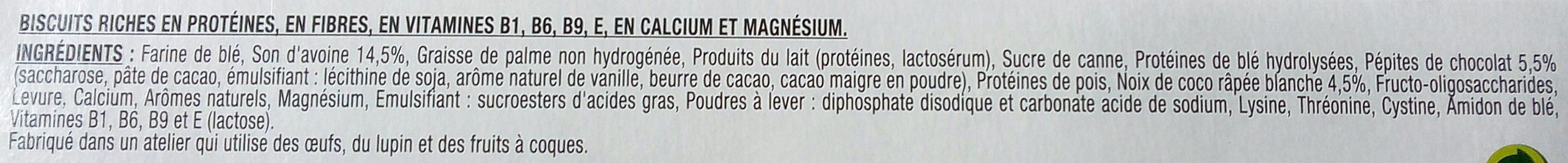 Biscuit diététique au son d'avoine Gerlinéa - Ingrédients - fr