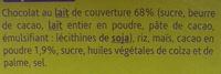 Crousti'pause nappé chocolat au lait - Ingredients