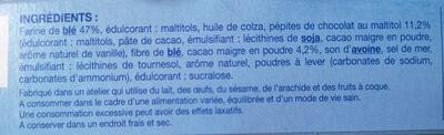 Cookie cacao pépites - Ingrediënten - fr