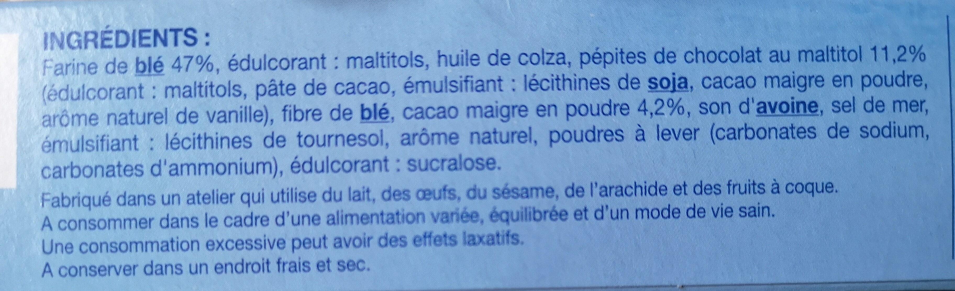 Cookie cacao pépites - Ingredientes - fr