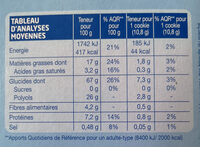 Cookie cacao pépites - Voedingswaarden - fr