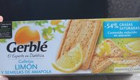 Galletas de limón y semillas de amapola - Product