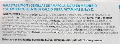 Galletas de limón y semillas de amapola - Ingrediënten