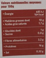Tofu fumé - Valori nutrizionali - fr