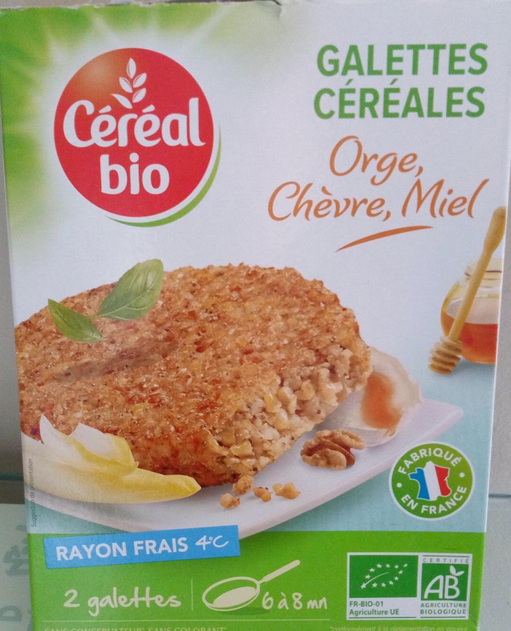 Céréal Bio - Galettes Céréales Orge, chèvre et miel - Product