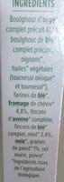 Céréal Bio - Galettes Céréales Orge, chèvre et miel - Ingredients