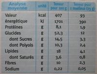 Moelleux pomme cannelle Gerblé - Informations nutritionnelles - fr