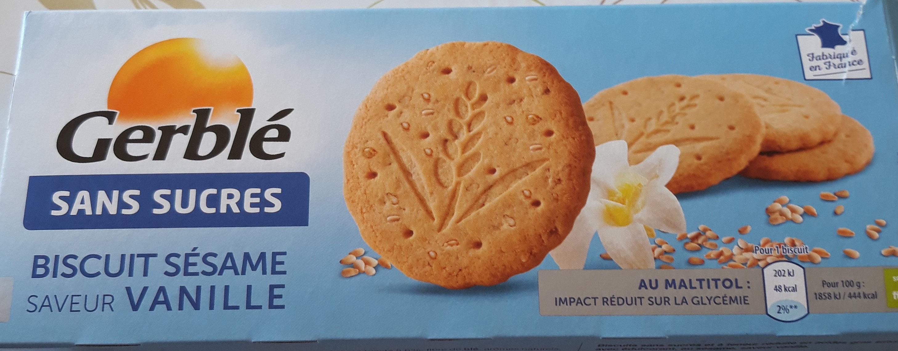 Biscuit sésame saveur vanille - Produit - fr