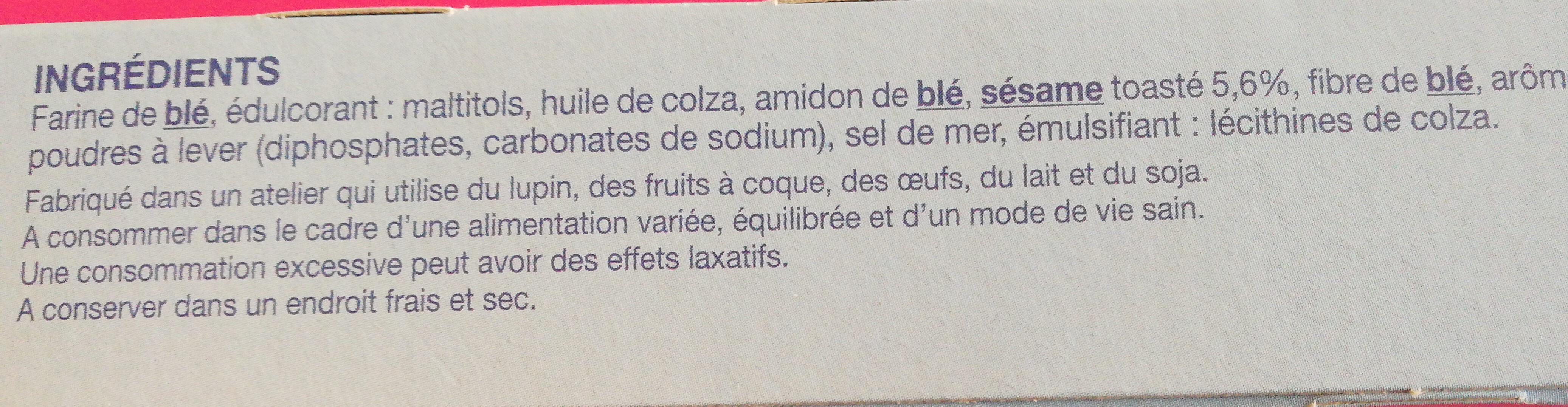 Biscuit sésame saveur vanille - Ingrédients - fr