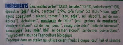 Salade Lentilles et Épeautre - Ingredients - fr